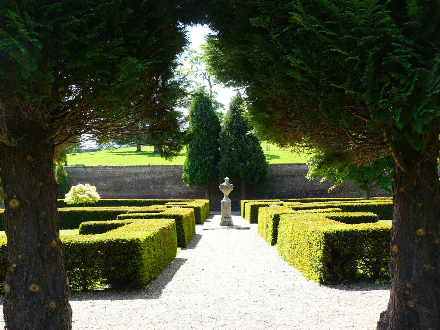 Raby Castle has nice walled gardens in its park.