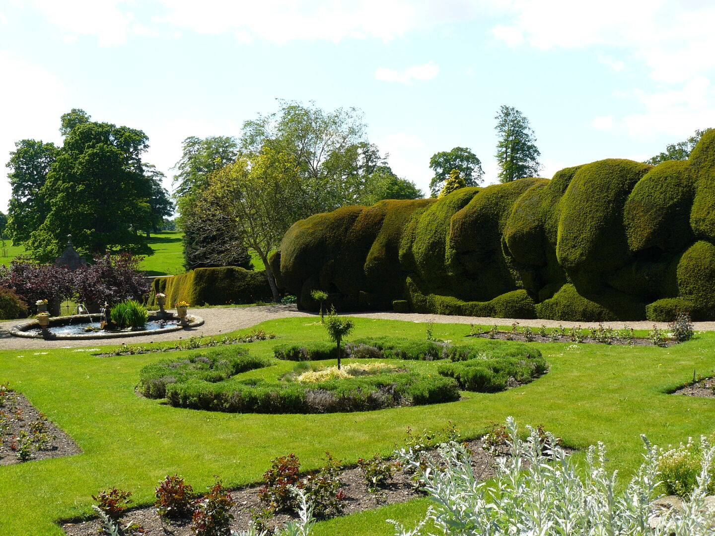 They feature two of these old yew hedges, which look really impressive.