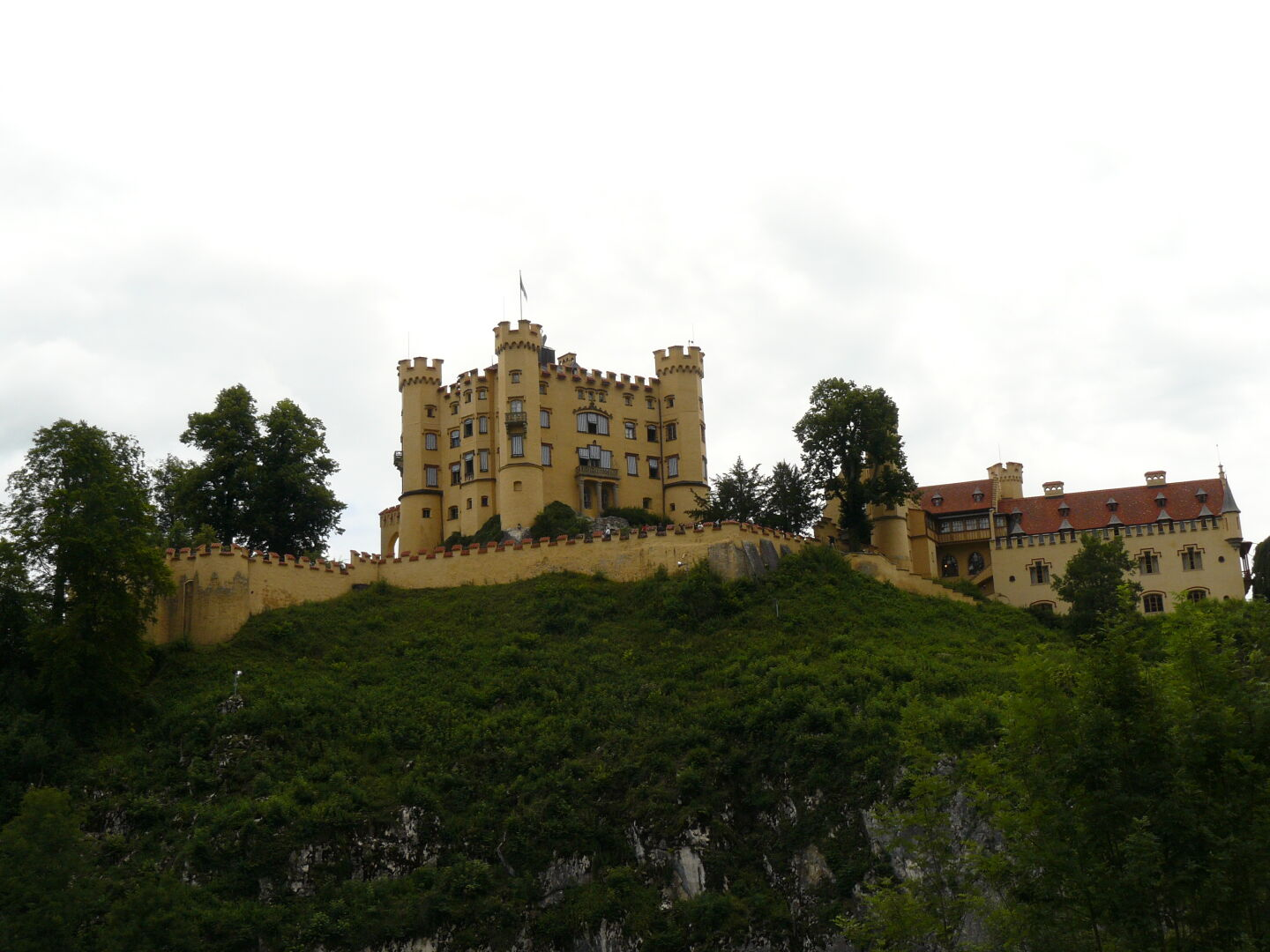 Castle Hohenschwangau, built by the father of Ludwig II, King Maximilian II. He's the guy whom the trail is named after.