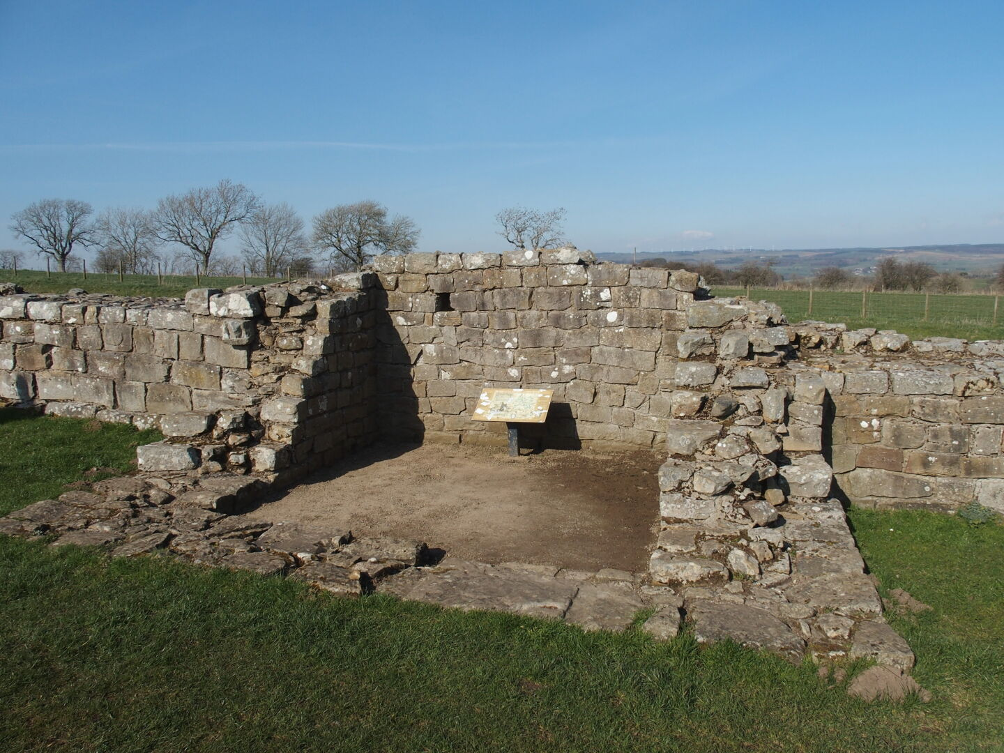 One of the many turrets, and the northern gate of Milecastle 37.