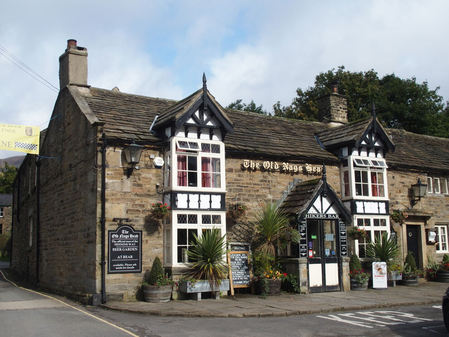 The Old Nags Head, Edale, Derbyshire, dates back to 1577.